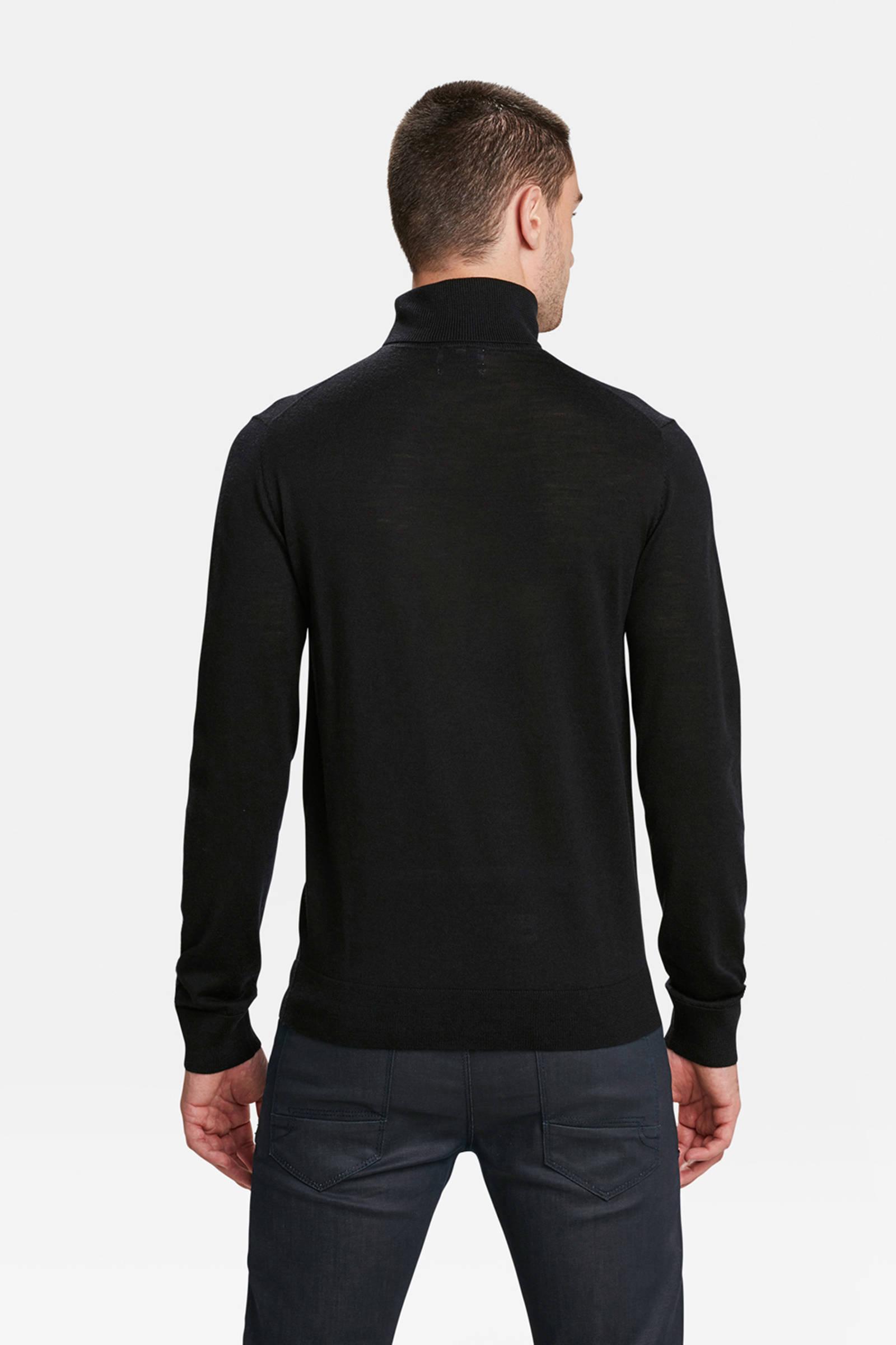 WE Fashion wollen slim fit coltrui zwart | wehkamp