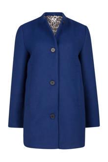 wollen coat blauw