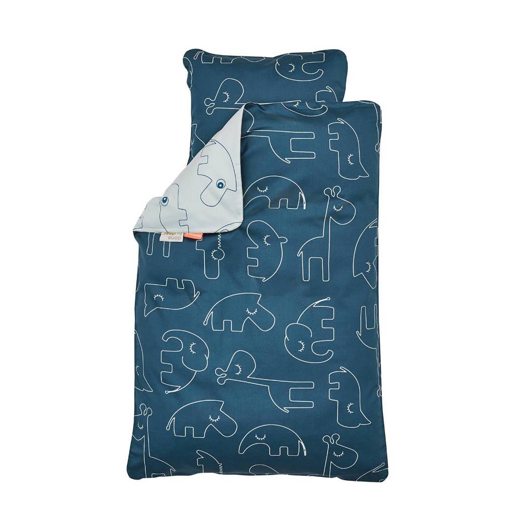 Done by Deer Sleepy junior dekbedovertrek 100x135 cm blauw, Blauw