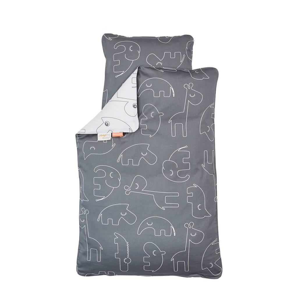 Done by Deer Sleepy junior dekbedovertrek 100x135 cm grijs, Grijs