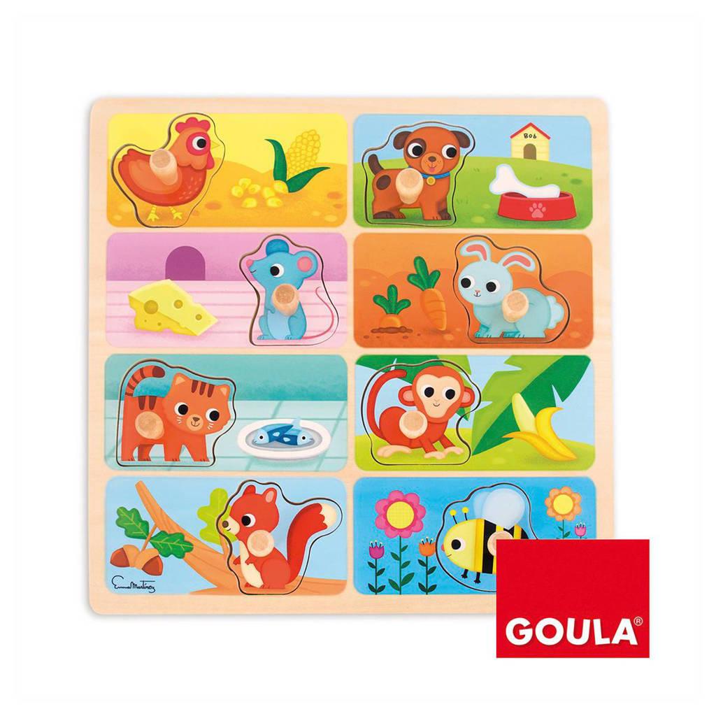 Goula mjin lievelingseten houten vormenpuzzel 8 stukjes