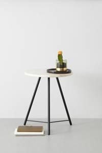 wehkamp home bijzettafel marmer, Wit/zwart