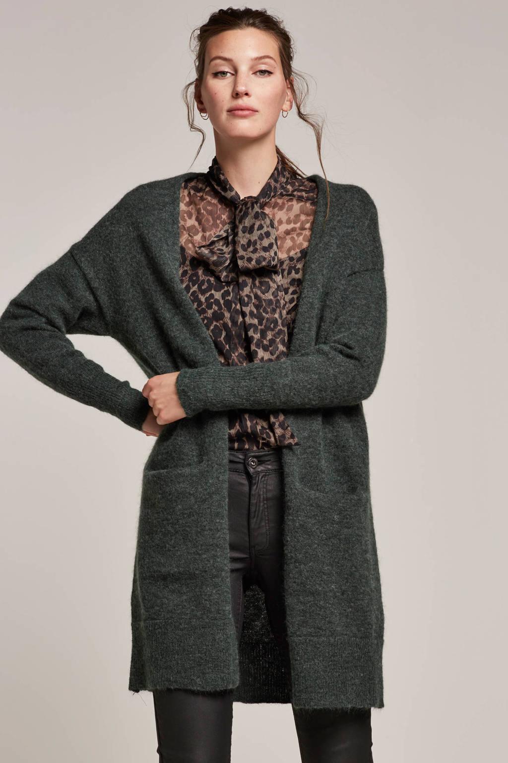 SELECTED FEMME vest met wol en mohair, Groen