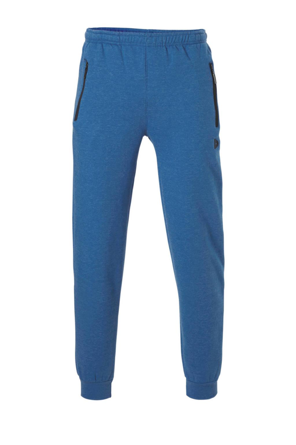 Donnay   joggingbroek hard blauw gemeleerd, Hard Blauw Gemeleerd