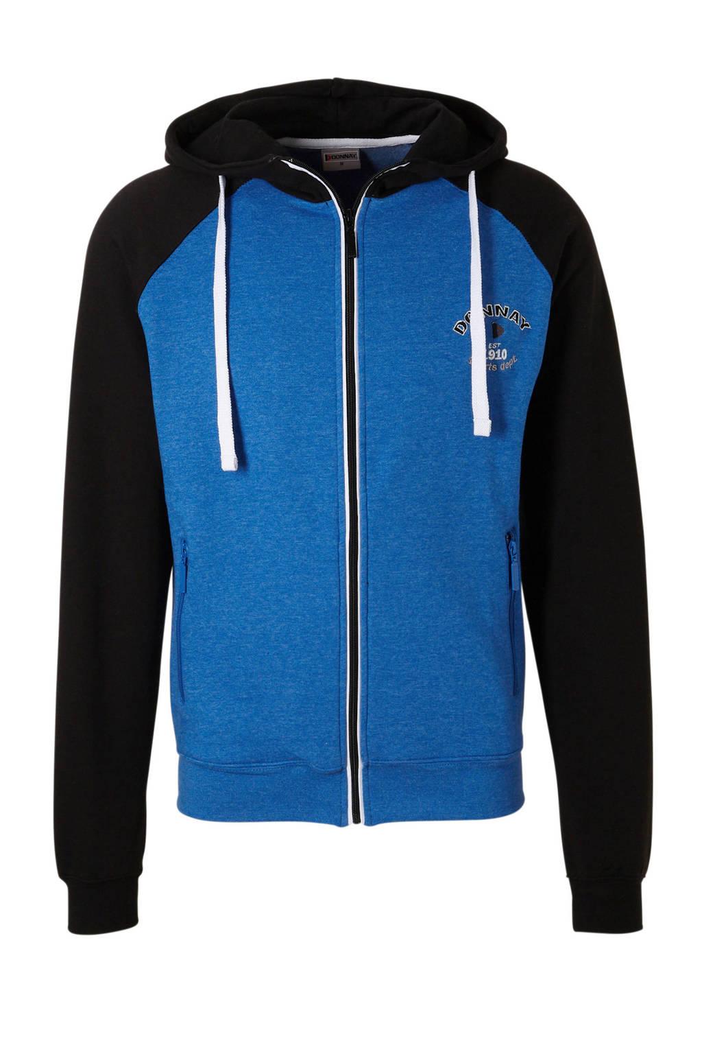 Donnay   sportvest blauw/zwart, Blauw/zwart
