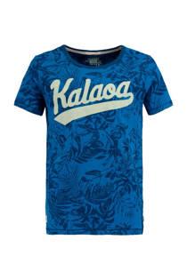 America Today Junior T-shirt Elias met all-over print blauw