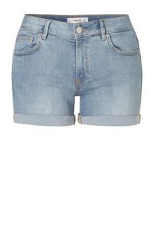 slim fit jeans short lichtblauw