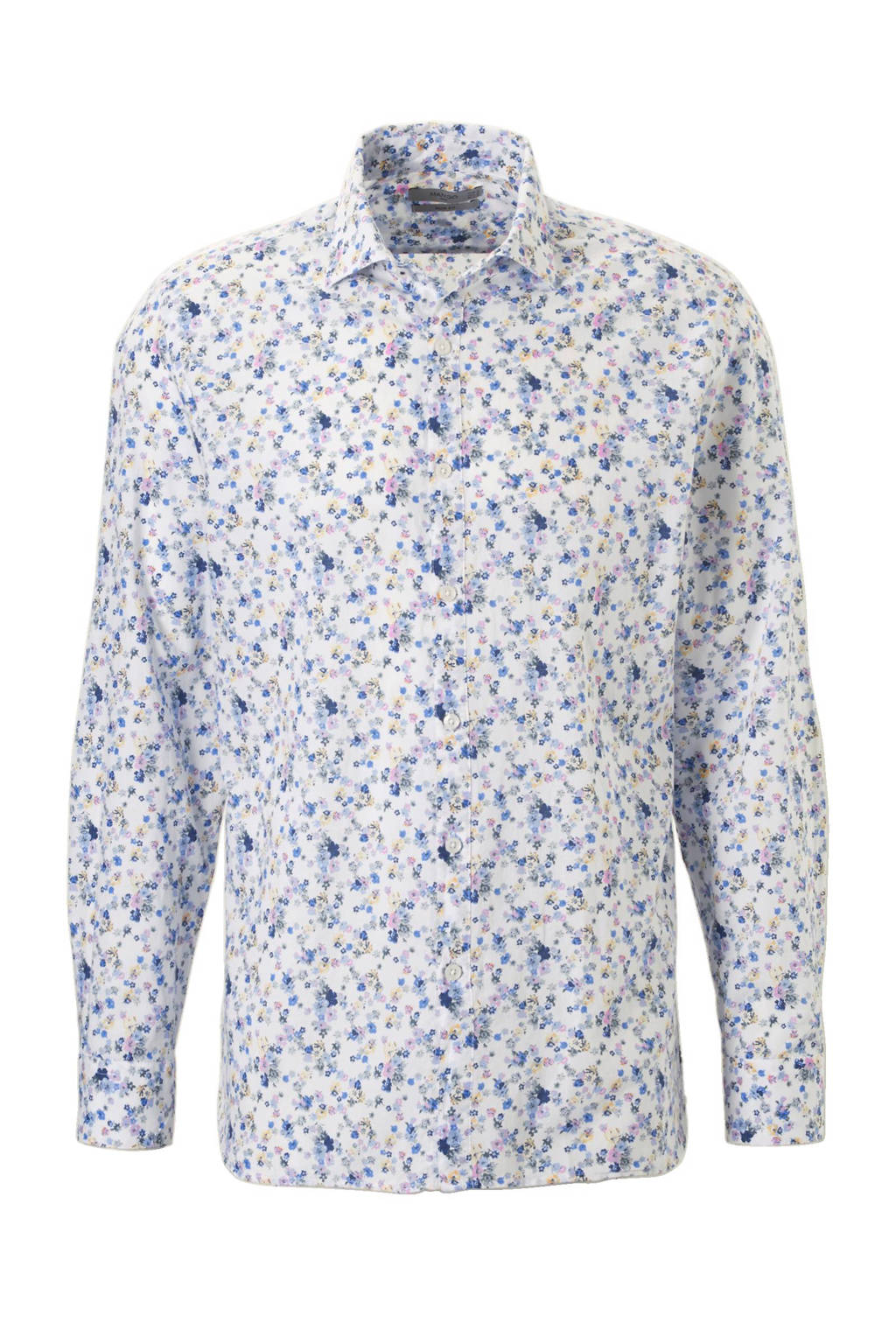 Heren Overhemd Bloemenprint.Mango Man Slim Fit Overhemd Bloemenprint Blauw Wehkamp