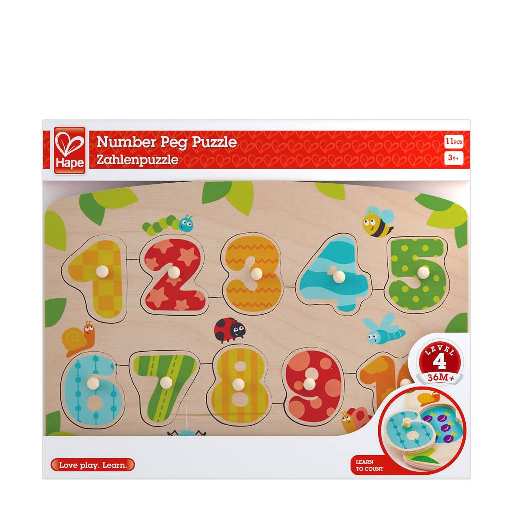 Hape vormen cijfers houten vormenpuzzel 10 stukjes