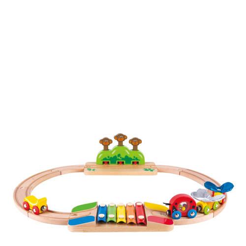 Hape houten mijn spoorwegenset kopen