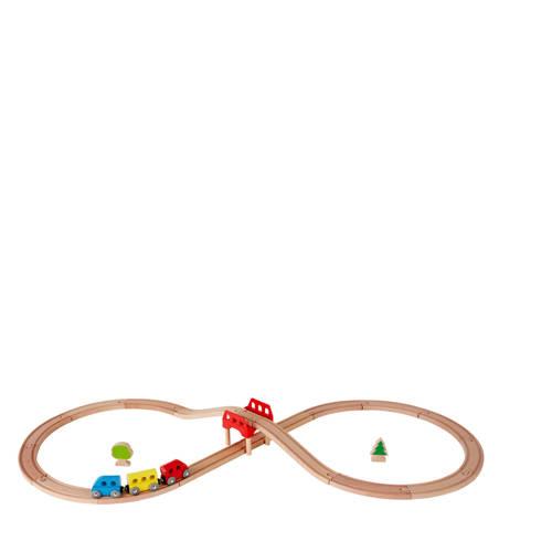 Hape houten spoorweg set kopen