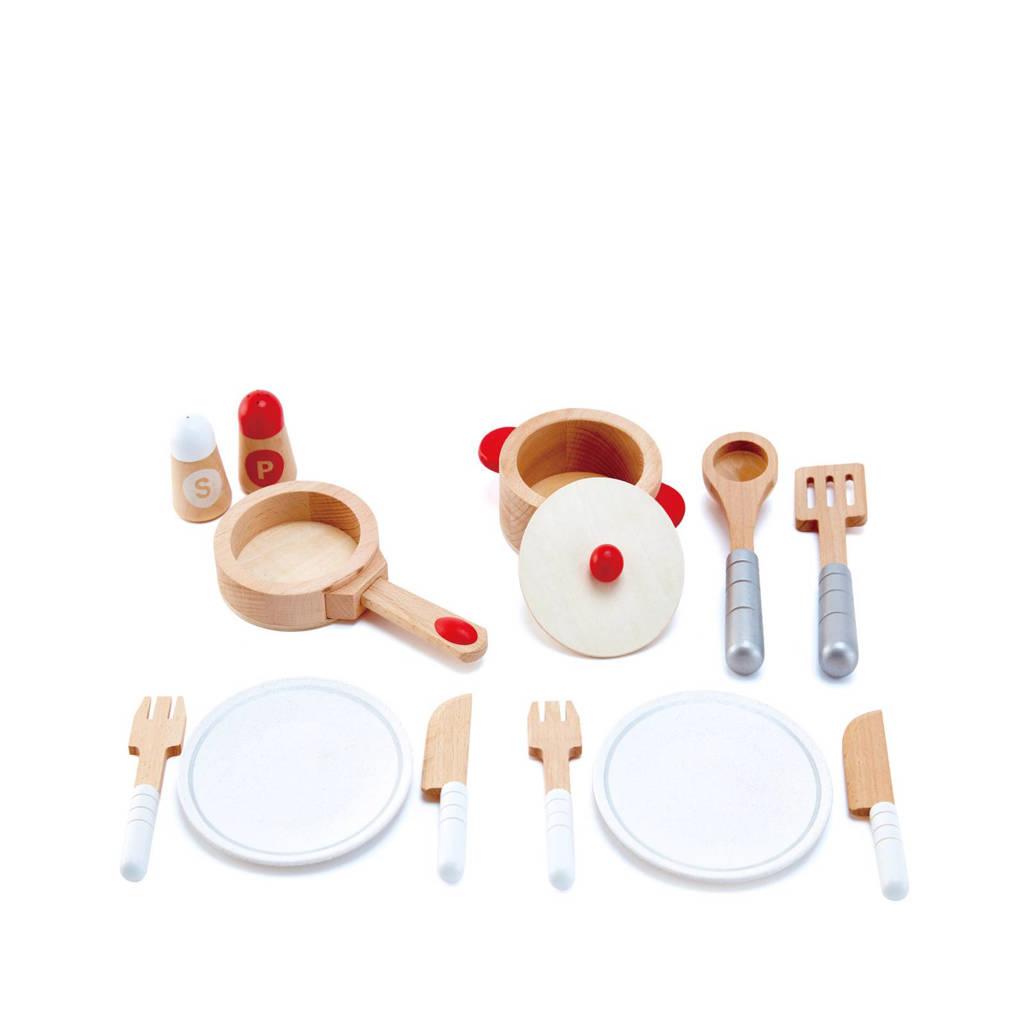 Hape houten kook & serveerset