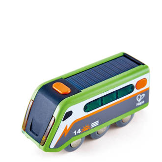houten zonne-energie trein