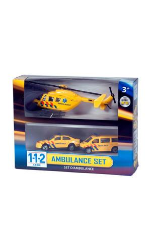 112 ambulance speelset 3 delig