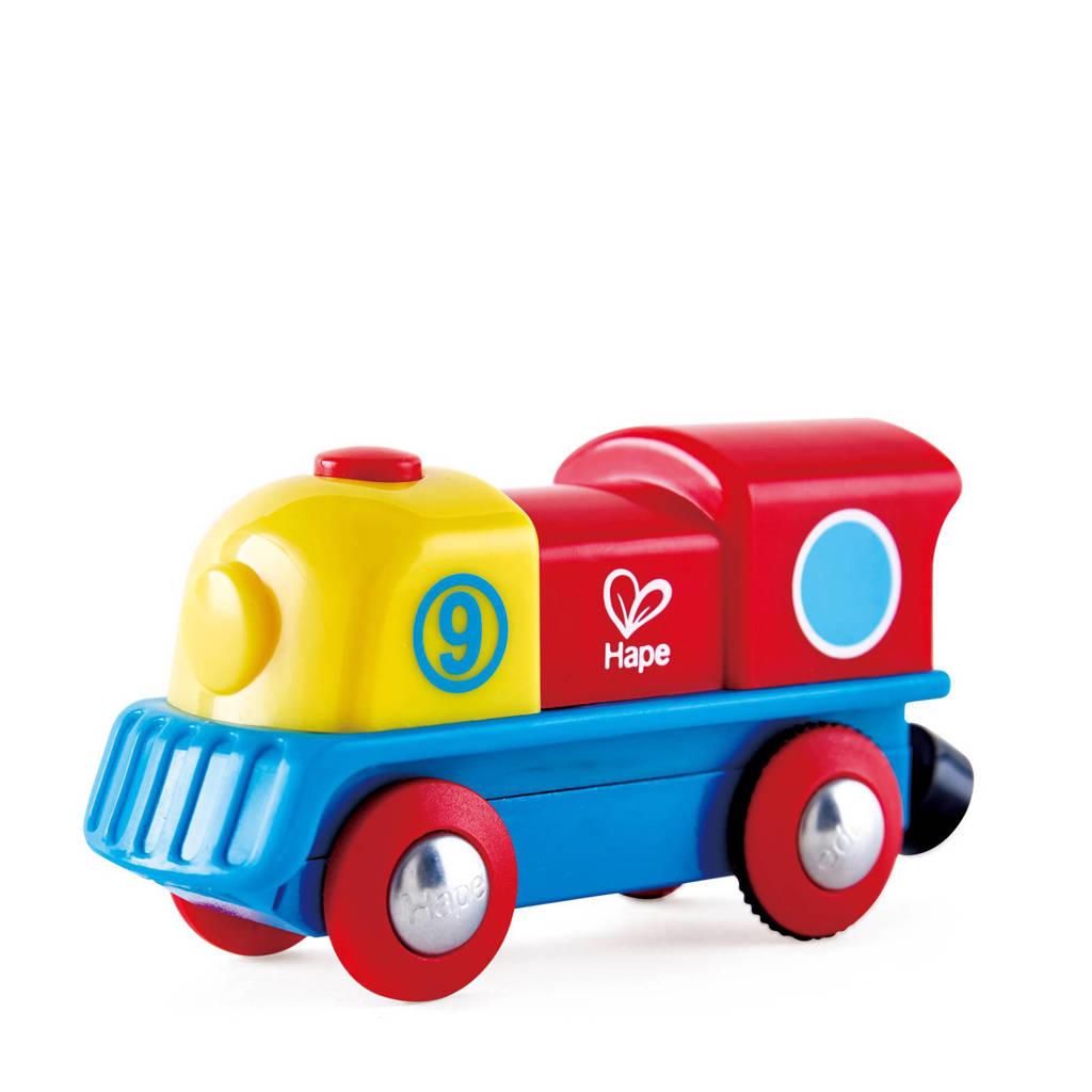 Hape houten kleurrijke locomotief