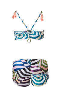 Molo bikini in all over print, Paars/groen/roze