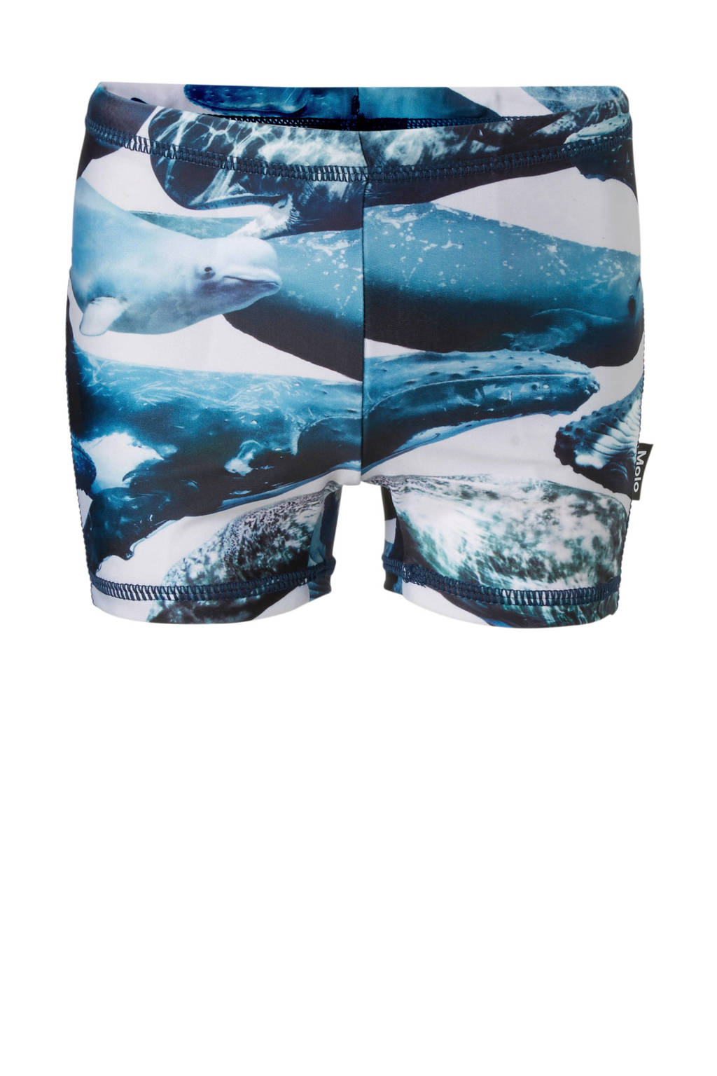 Molo zwemboxer in all over print blauw, Blauw/wit