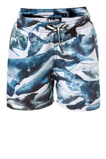 Molo zwemshort in all over print blauw (jongens)