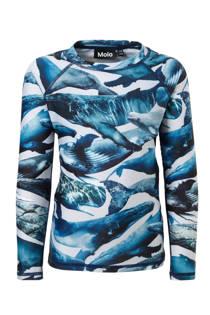 Molo UV T-shirt in all over print blauw (jongens)