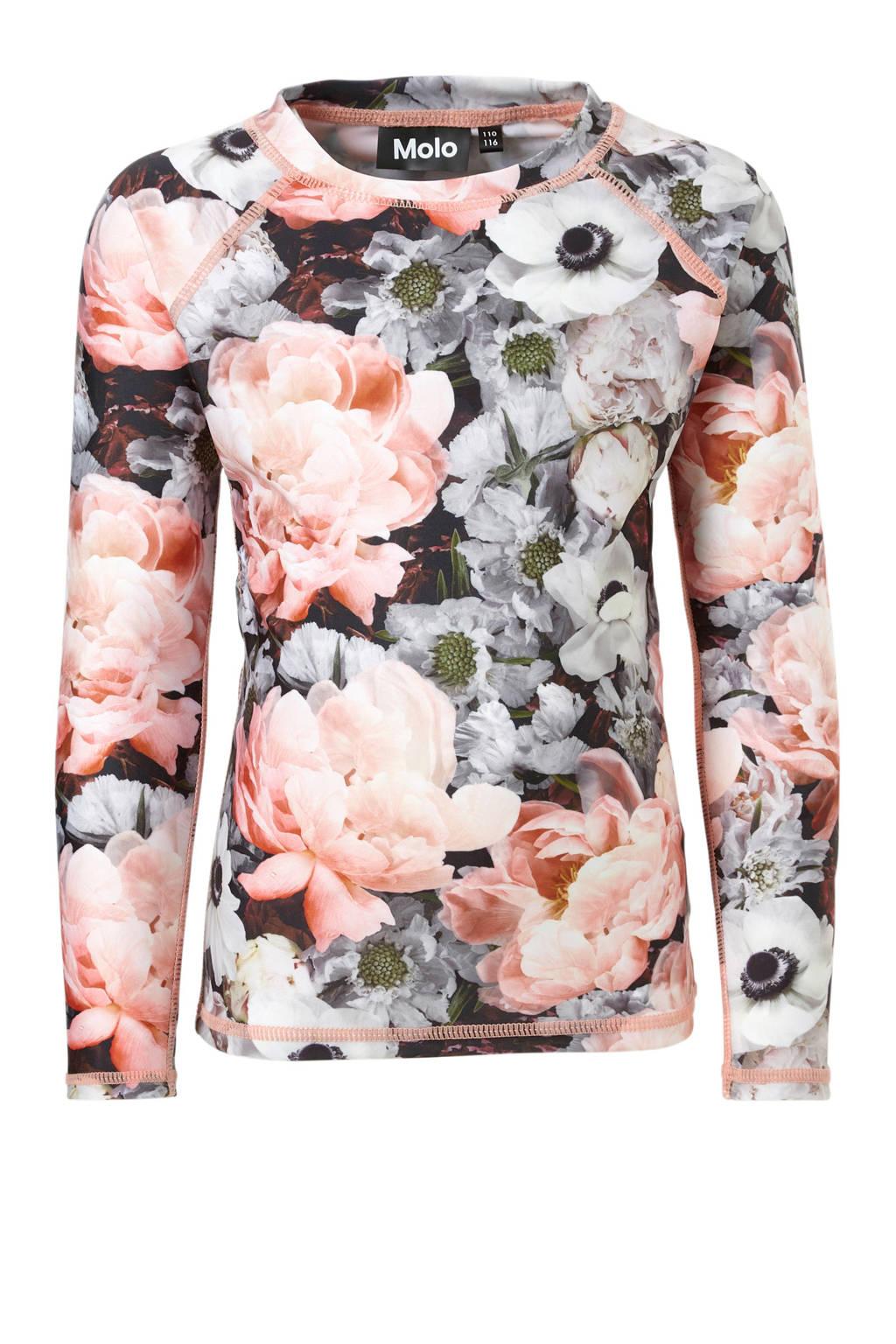 Molo UV T-shirt in all over print roze, Roze/grijs