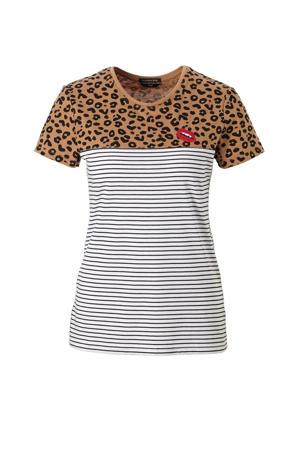 Striped Leopard T-shirt