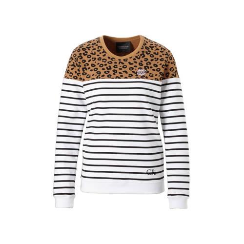 Colourful Rebel Striped Leopard sweater kopen