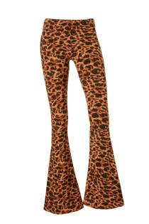 Colourful Rebel Leopard flared legging in een panterprint (dames)