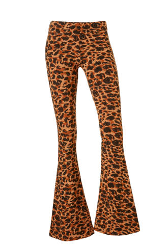 Leopard flared legging in een panterprint