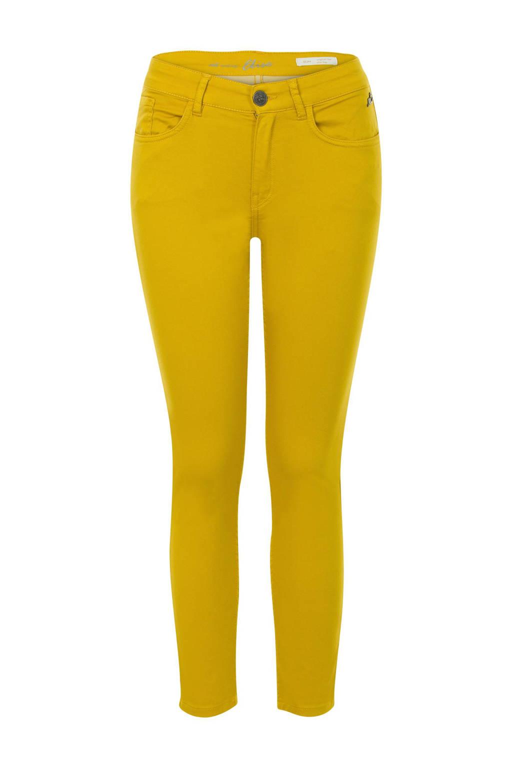 Miss Etam Regulier slim fit broek geel, Geel