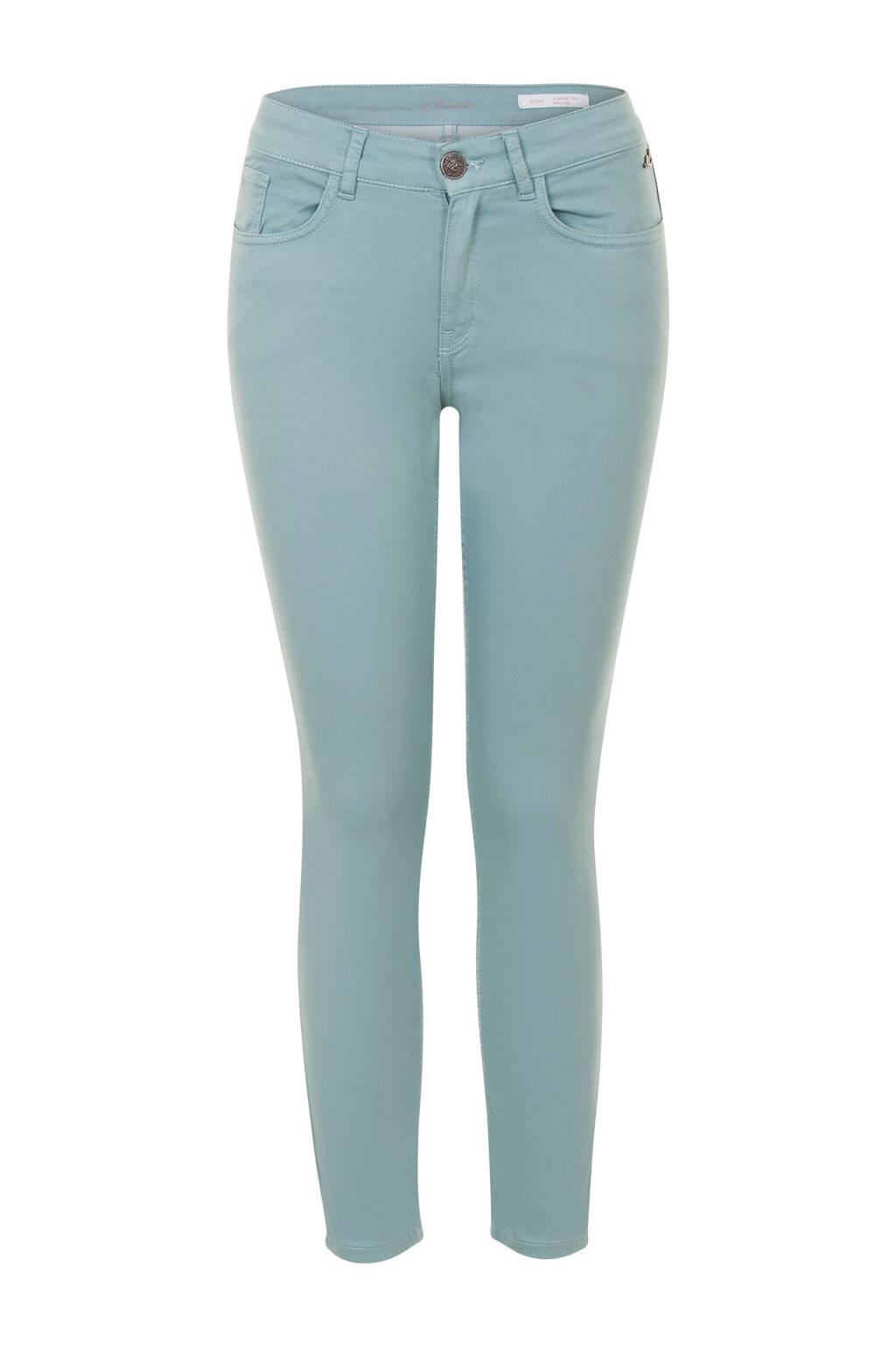 Miss Etam Regulier Regulier cropped slim fit broek lichtblauw, Lichtblauw