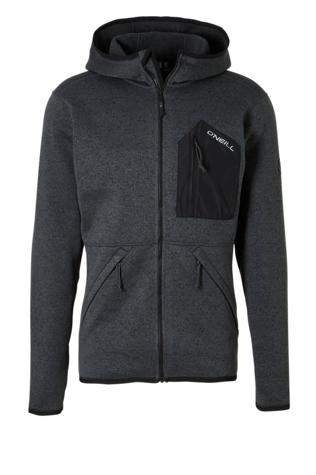 O'Neill   vest antraciet melange, Antraciet/zwart/wit