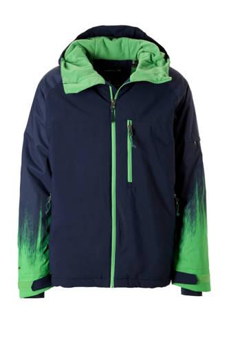 ski-jack donkerblauw/groen