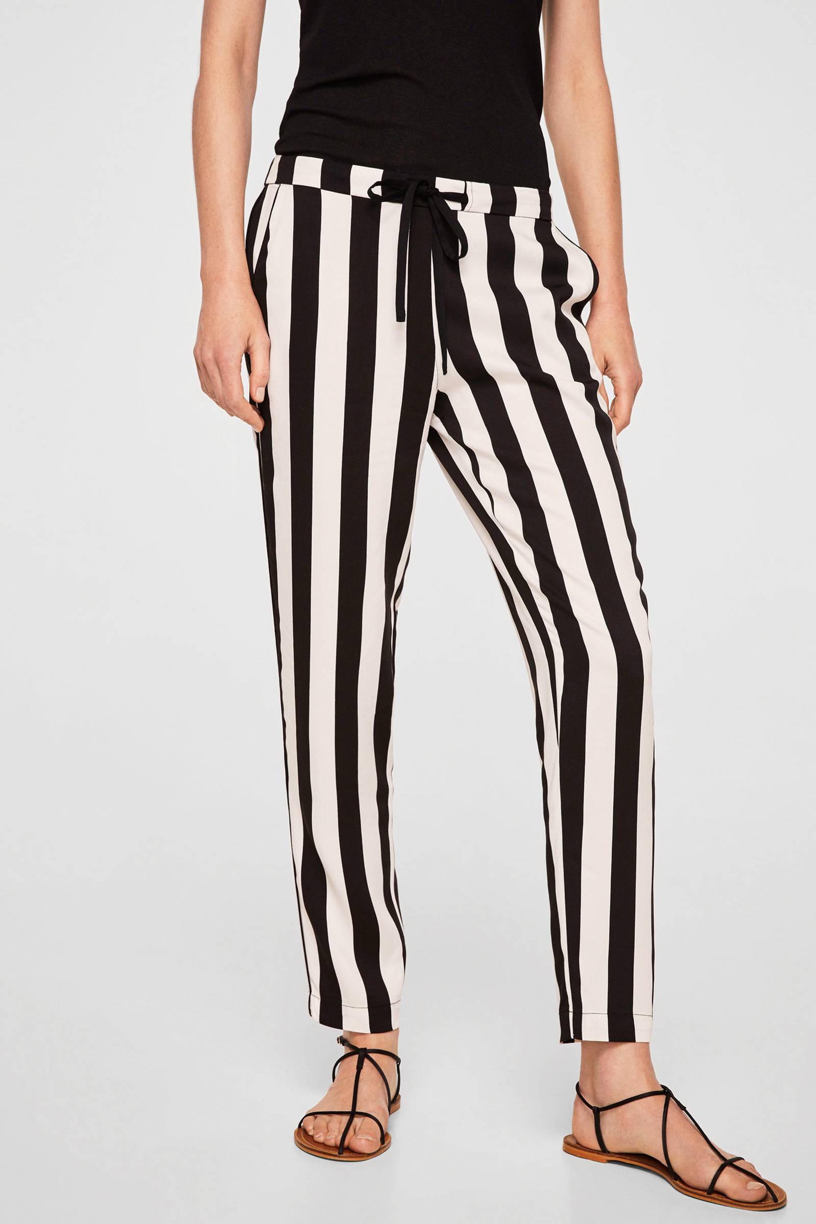 gestreepte broek zwart wit