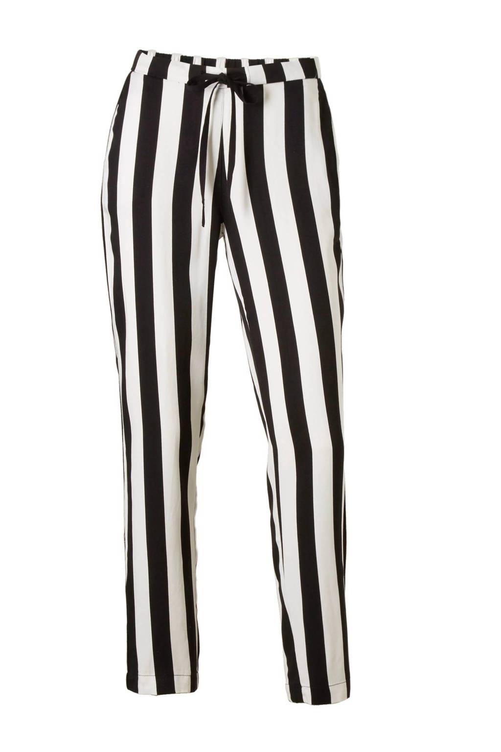b7636546ed77d0 Mango gestreepte broek zwart - wit, Zwart/wit