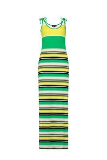 gestreepte maxi jurk groen