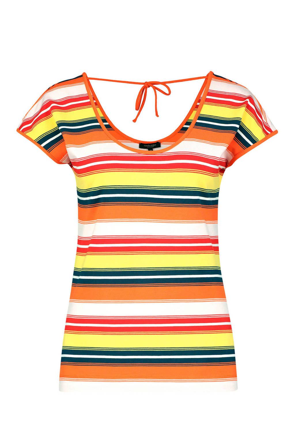 Claudia Sträter gestreept T-shirt oranje, oranje/wit/geel