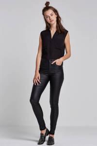 ONLY coated broek onlANNE, Zwart