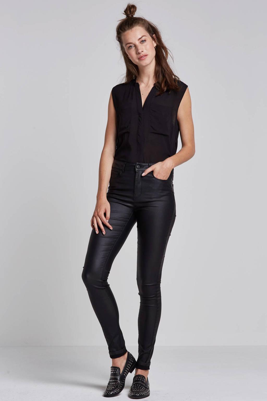 ONLY coated broek, Zwart