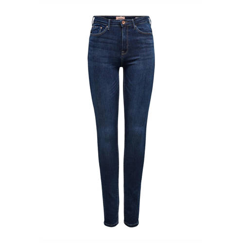 ONLY high waist skinny jeans donkerblauw