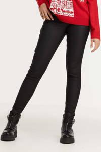 ONLY coated high waist skinny broek ONLROYAL zwart, Zwart