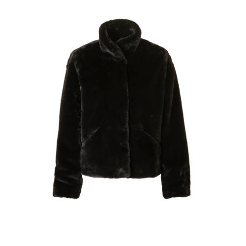 ONLY imitatiebont jas zwart
