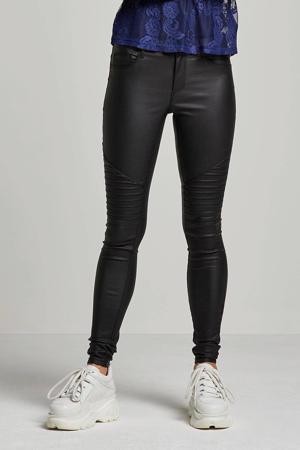 skinny coated broek ONLNEW zwart