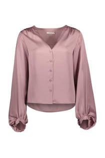 Sissy-Boy satijnen blouse lila (dames)