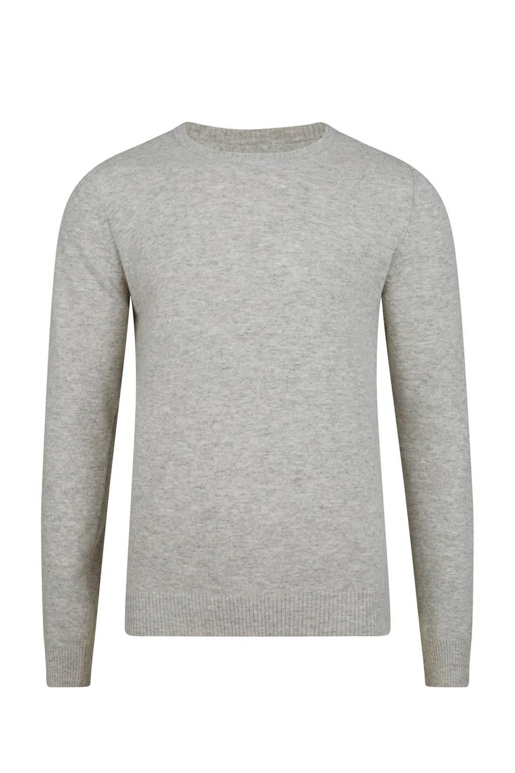 61377efdac4 WE Fashion gemêleerde trui van lamswol grijs, Grijs melange