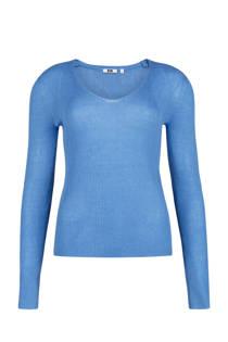 WE Fashion trui met wol lichtblauw (dames)