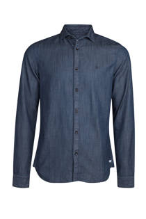 WE Fashion slim fit overhemd blauw (heren)