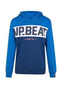 WE Fashion sweater met tekstopdruk blauw