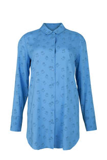 WE Fashion blouse met all over print blauw (dames)