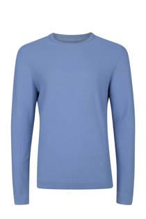 WE Fashion slim fit trui blauw