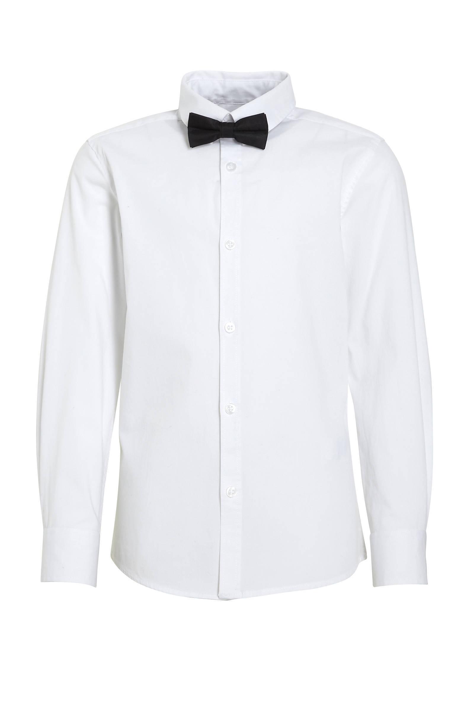 WE Fashion overhemd + vlinderstrik wit (jongens)